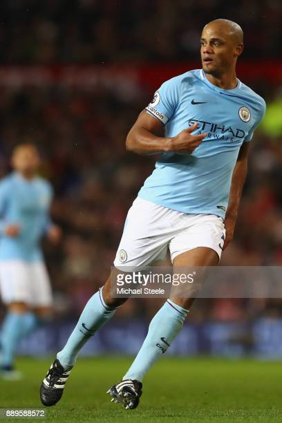 Vincent Kompany of Manchester City during the Premier League match between Manchester United and Manchester City at Old Trafford on December 10 2017...