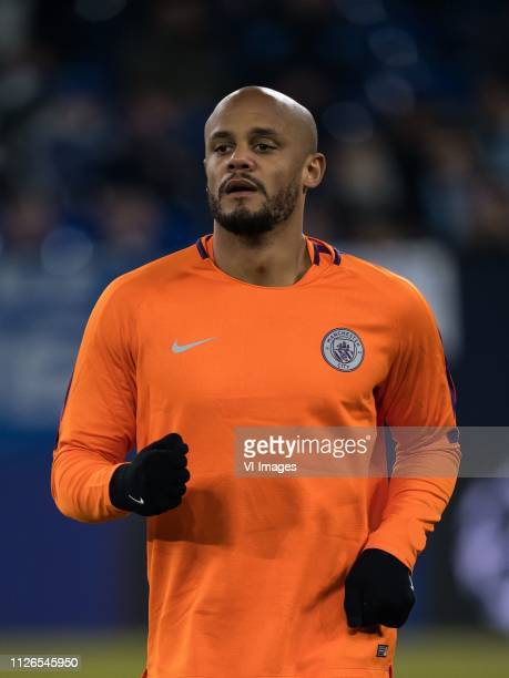 Vincent Kompany of Manchester City during the UEFA Champions League round of 16 match between Schalke 04 and Manchester City at Arena Auf Schalke on...