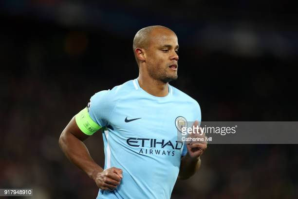 Vincent Kompany of Manchester City during the UEFA Champions League Round of 16 First Leg match between FC Basel and Manchester City at St JakobPark...