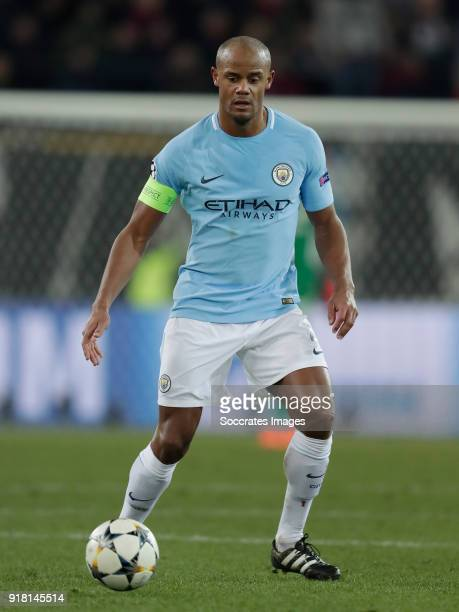 Vincent Kompany of Manchester City during the UEFA Champions League match between Fc Basel v Manchester City at the St JakobPark on February 13 2018...