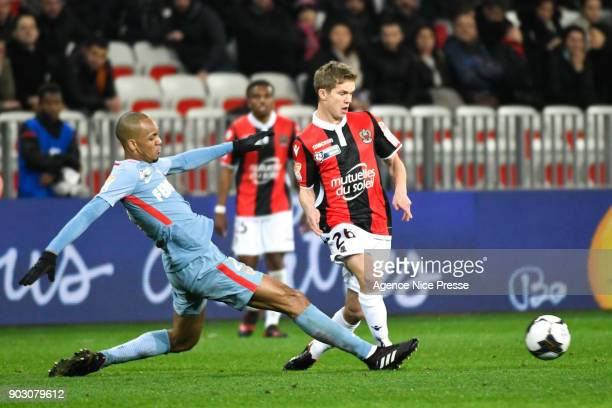 Vincent Koziello of Nice during the League Cup match between Nice and Monaco at Allianz Riviera Stadium on January 9 2018 in Nice France