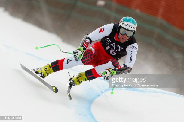 Vincent Kriechmayr of Austria competes during the Audi FIS Alpine Ski World Cup Men's Alpine Combined on February 22 2019 in Bansko Bulgaria