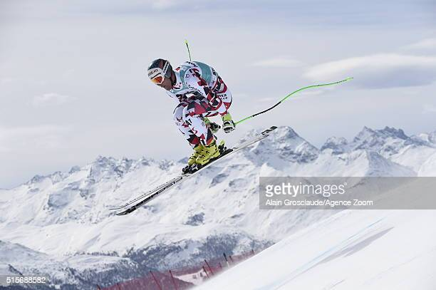 Vincent Kriechmayr of Austria competes during the Audi FIS Alpine Ski World Cup Finals Men's and Women's Downhill Training on March 15 2016 in St...