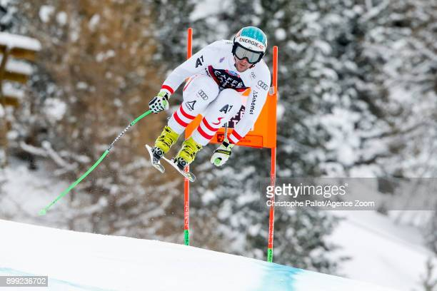 Vincent Kriechmayr of Austria competes during the Audi FIS Alpine Ski World Cup Men's Downhill on December 28 2017 in Bormio Italy