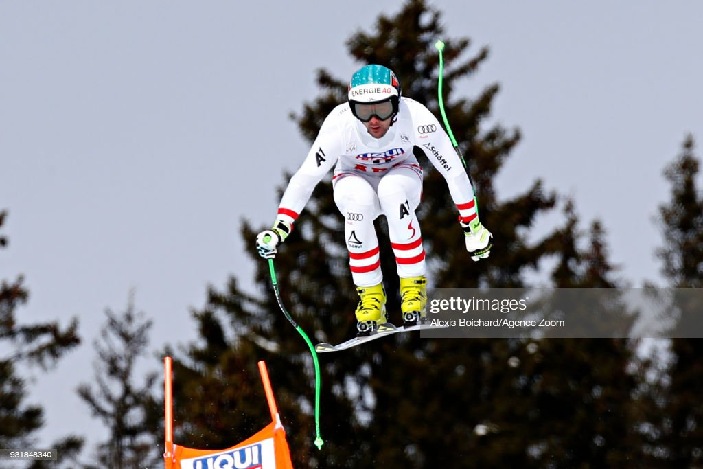 Vincent Kriechmayr of Austria competes during the Audi FIS Alpine Ski World Cup Finals Men's and Women's Downhill on March 14, 2018 in Are, Sweden.