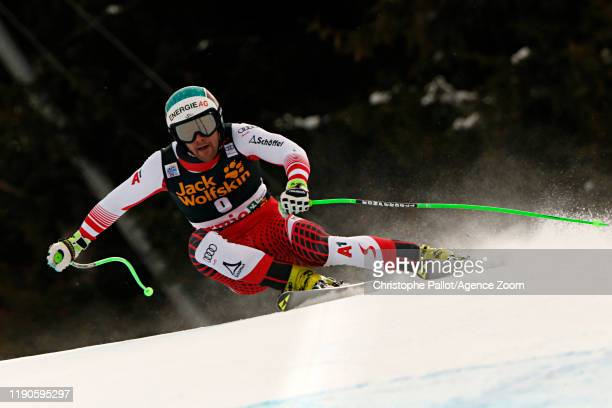 Vincent Kriechmayr of Austria in action during the Audi FIS Alpine Ski World Cup Men's Downhill on December 27, 2019 in Bormio Italy.