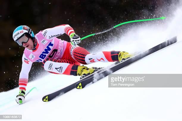 Vincent Kriechmayr of Austria skis during the Audi FIS Alpine Ski World Cup Men's Downhill Training on November 28 2018 in Beaver Creek Colorado