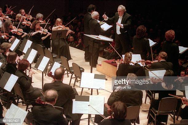 Vincent La Selva leading the New York Grand Opera Company in Verdi's 'Mass of Requiem' at Carnegie Hall on Saturday night January 27 2001