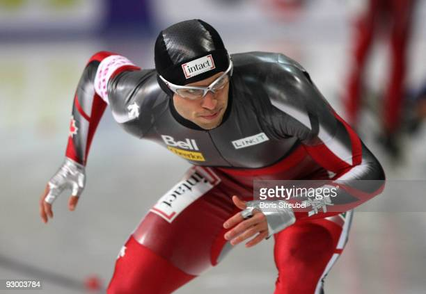 Vincent Labrie of Canada competes in the men's 500 m Division A race during the Essent ISU World Cup Speed Skating on November 6 2009 in Berlin...