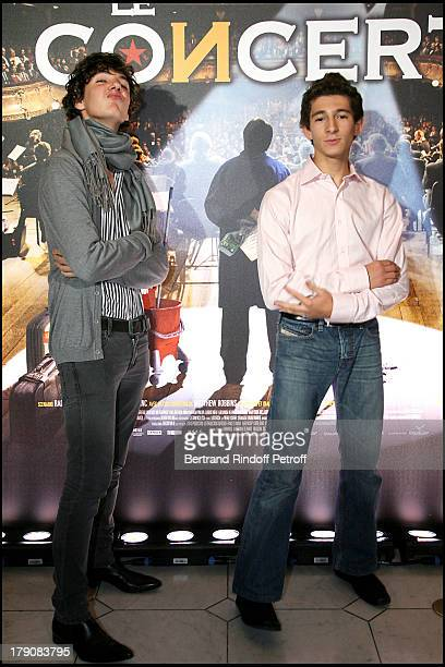 Vincent Lacoste and Anthony Sonigo at Premiere Of 'Le Concert' Au Theatre Du Chatelet