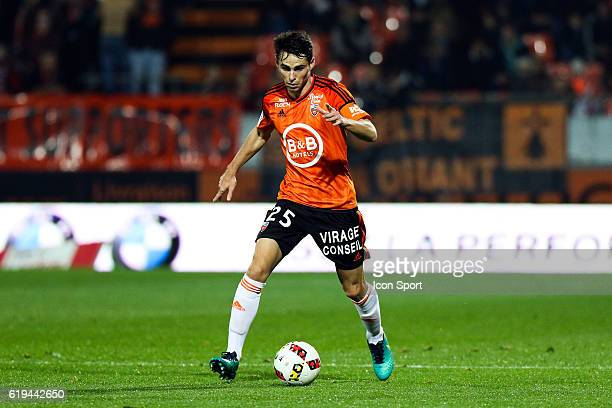 Vincent Le Goff of Lorient during the French Ligue 1 between Lorient and Montpellier at Stade du Moustoir on October 29 2016 in Lorient France