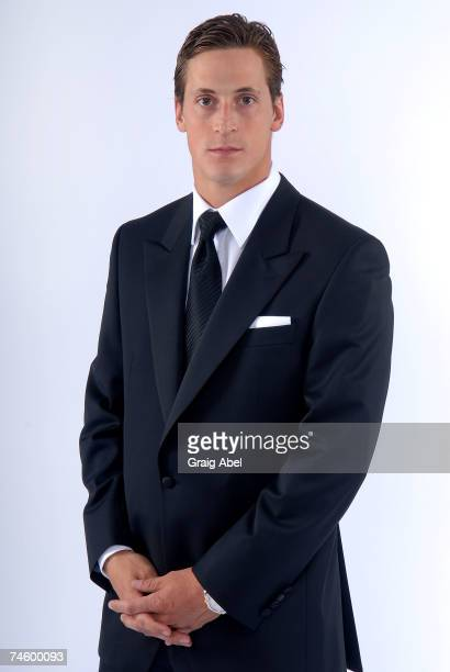 Vincent Lecavalier of the Tampa Bay Lightning poses for a portrait backstage during the 2007 NHL Awards at the Elgin Theatre on June 14, 2007 in...