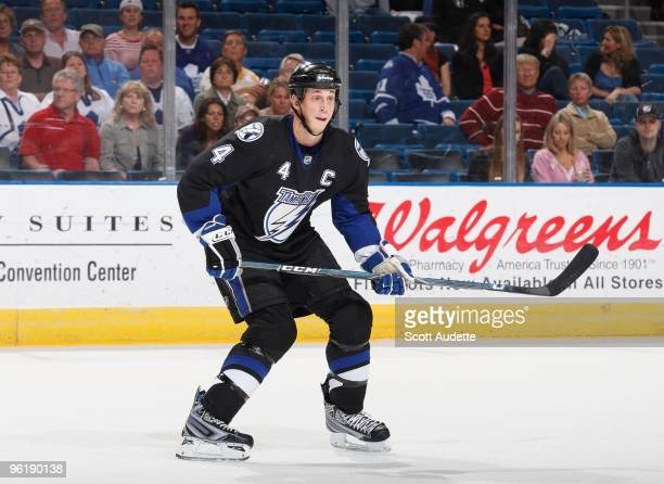 Vincent Lecavalier of the Tampa Bay Lightning skates against the Toronto Maple Leafs at the St Pete Times Forum on January 21 2010 in Tampa Florida