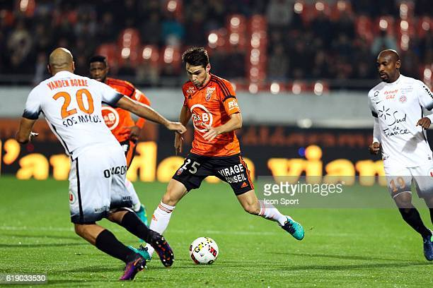 Vincent Legoff of Lorient during the French Ligue 1 between Lorient and Montpellier at Stade du Moustoir on October 29 2016 in Lorient France