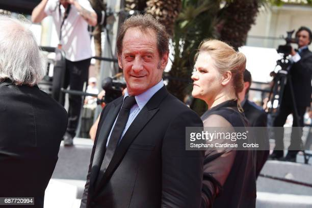 Vincent Lindon and Severine Caneele attend the 'Rodin' screening during the 70th annual Cannes Film Festival at Palais des Festivals on May 24 2017...