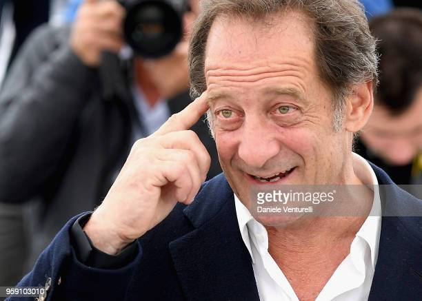 Vincent Lindon attends the photocall for the 'In War ' film during the 71st annual Cannes Film Festival at Palais des Festivals on May 16 2018 in...