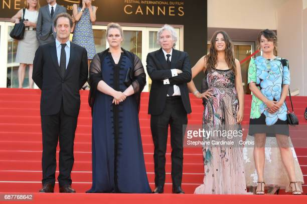Vincent Lindon Severine Caneele director Jacques Doillon Izia Higelin and Kristina Larsen depart after the Rodin screening during the 70th annual...