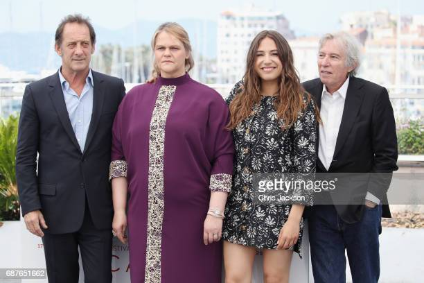 Vincent Lindon Severine Caneele Izia Higelin and Director Jacques Doillon attend the 'Rodin' photocall during the 70th annual Cannes Film Festival at...