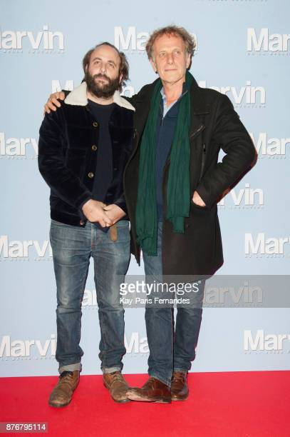 Vincent Macaigne and Charles Berling attend the 'Marvin Ou La Belle Education' Paris Premiere at Le Louxor cinema on November 20 2017 in Paris France