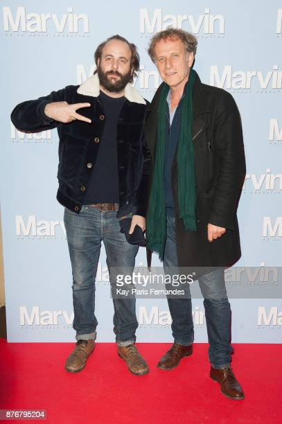 Vincent Macaigne and Charles Berling attend the 'Marvin Ou La Belle Education' Paris Premiere at Le Louxor cinema on November 20 2017 in Paris France