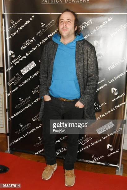 Vincent Macaigne attends the 'Romy Schneider Patrick Dewaere Award 2018' Nominee Press Conference at Hotel Lancaster on March 26 2018 in Paris France