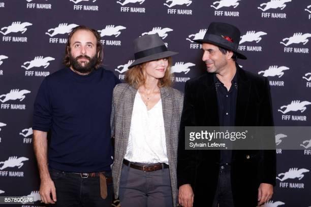 Vincent Macaigne Vanessa Paradis and Samuel Benchetrit attend 32nd Namur International FrenchLanguage Film on October 5 2017 in Namur Belgium