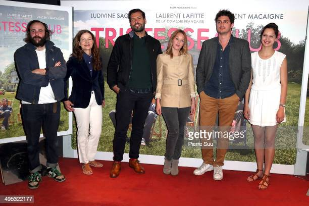 Vincent MacaigneDominique ReymondLaurent LafitteLudivine SagnierVincent Mariette and Delia EspinatDief attend the premiere of 'Tristesse Club' at UGC...