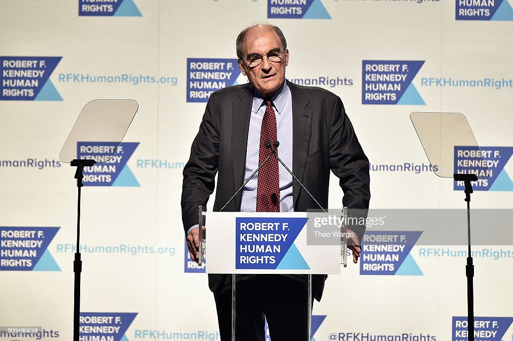 Vincent Mai speaks onstage as Robert F. Kennedy Human Rights hosts The 2015 Ripple Of Hope Awards honoring Congressman John Lewis, Apple CEO Tim Cook, Evercore Co-founder Roger Altman, and UNESCO Ambassador Marianna Vardinoyannis at New York Hilton on December 8, 2015 in New York City.