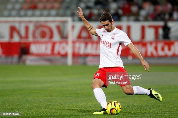 Vincent Marchetti of Nancy during the French Ligue 2 match between Nancy and Le Havre on September 14 2018 in Nancy France