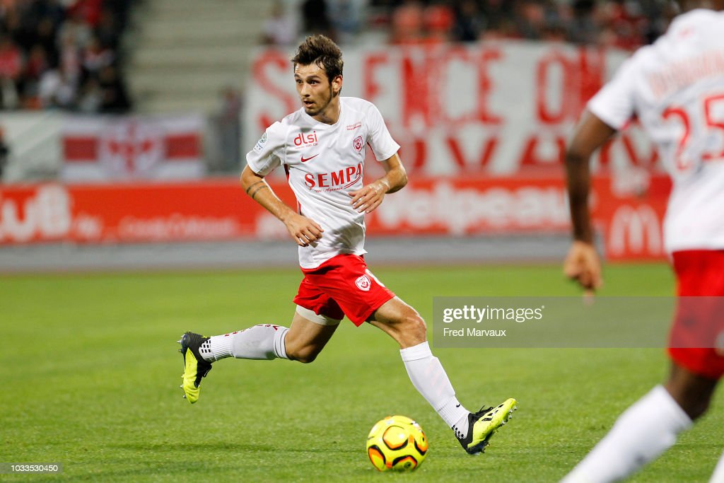 Vincent Marchetti of Nancy during the French Ligue 2 match between Nancy and Le Havre on September 14, 2018 in Nancy, France.