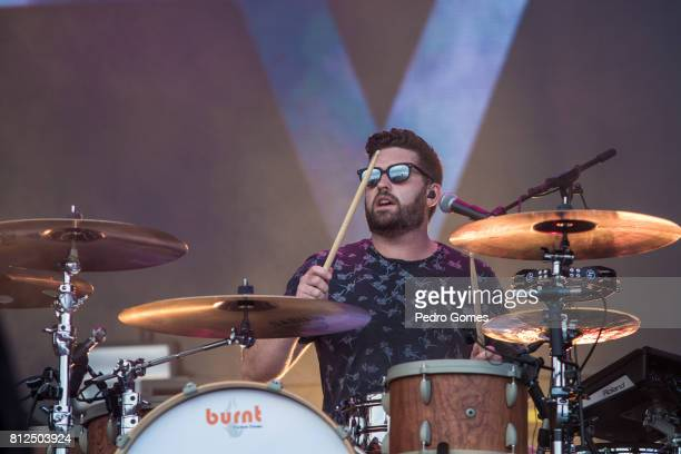 Vincent May of Kodaline performs on NOS stage at day 3 of NOS Alive festival on July 8 2017 in Lisbon Portugal