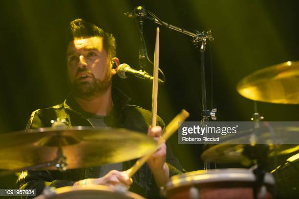 Vincent May of Kodaline performs on stage at The SSE Hydro on January 31 2019 in Glasgow Scotland