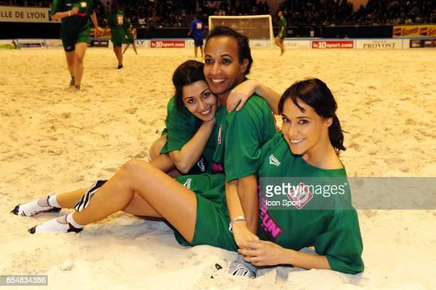 Vincent MCDOOM Karine LIMA Karima Charni Le Show Beach soccer a Lyon Tournoi des celebrites Match caritatif pour l'association Un sourire Un espor...