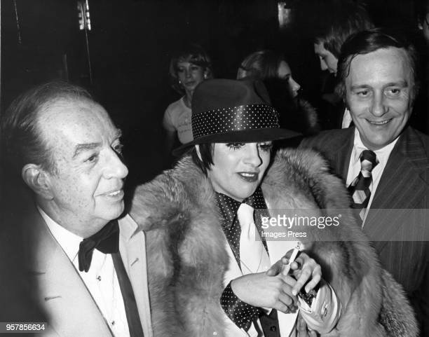 Vincent Minelli and Liza Minnelli dressed in a hat and fur are pictured circa 1970s in New York City