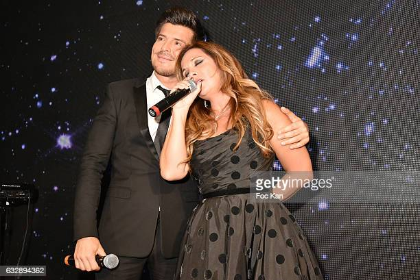 Vincent Niclo and Helena Segara attend 'The Best Award Gala 40th Edition' at Four Seasons George V Hotel on January 27 2017 in Paris France