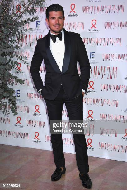 Vincent Niclo attends the 16th Sidaction as part of Paris Fashion Week on January 25 2018 in Paris France