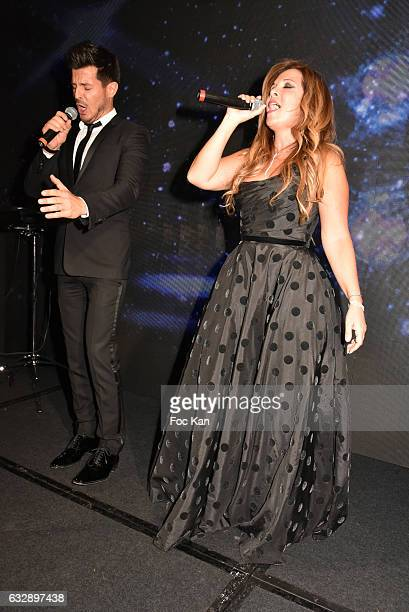 Vincent Niclo Helena Segara attend 'The Best Award Gala 40th Edition' at Four Seasons George V Hotel on January 27 2017 in Paris France