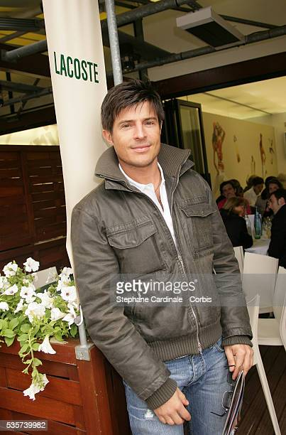 Vincent Niclo visits Roland Garros village during the 2006 French Open tennis