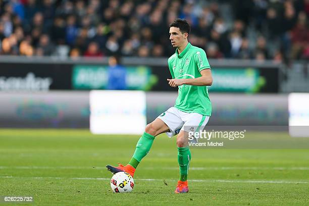Vincent Pajot of SaintEtienne during the French Ligue 1 match between Angers and Saint Etienne on November 27 2016 in Angers France