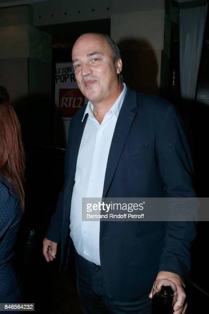 Vincent Parizot 'Le journal inattendu' on RTL attends the RTL RTL2 Fun Radio Press Conference to announce their TV Schedule for 2017/2018 at Elysee...