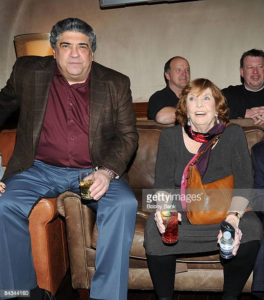 Vincent Pastore and Anne Meara pose backstage at the Jerry Stiller show at the Hilton Hotel & Casino on January 17, 2009 in Atlantic City, New Jersey.