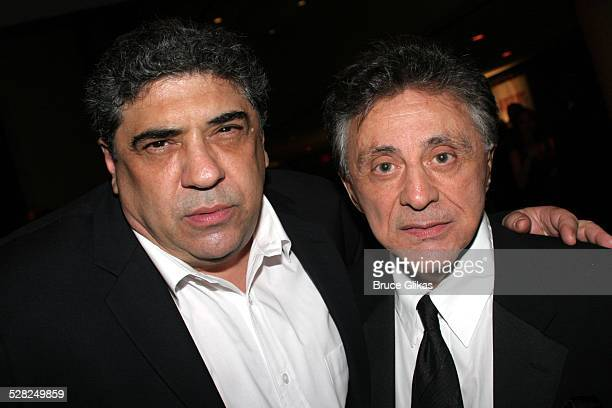 Vincent Pastore and Frankie Valli during Opening Night After Party for Jersey Boys on Broadway at The August Wilson Theater and The Marriott Marquis...