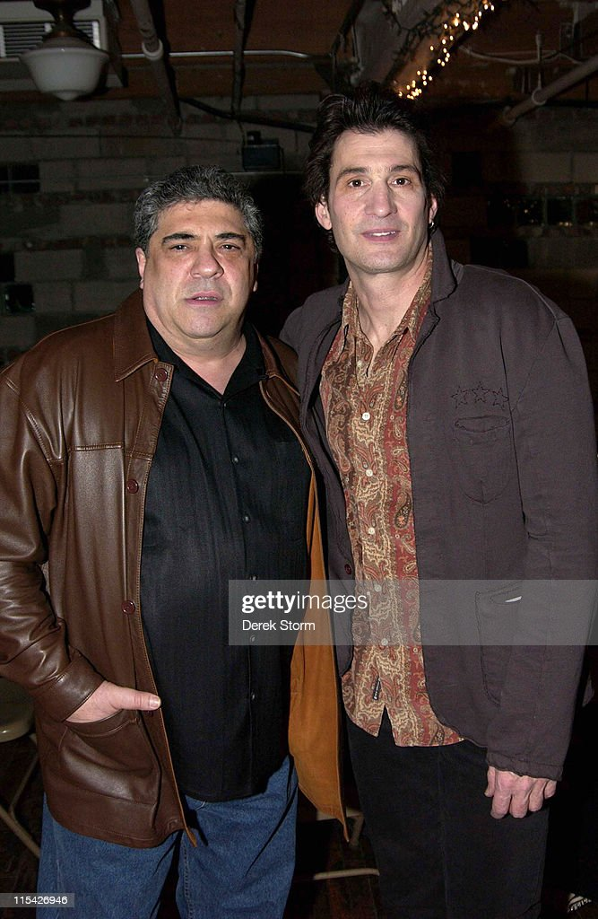 Vincent Pastore and Robert Funaro during 'Dread Awakening' New York City Premiere - Arrivals and After Party at 45th Street Theater and Chelsea Market in New York City, New York, United States.