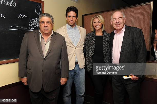 Vincent Pastore Nick Cordero Amanda KlootsLarsen and Lenny Wolpe atten the 'Almost Home' after party at West Bank Cafe on September 18 2014 in New...