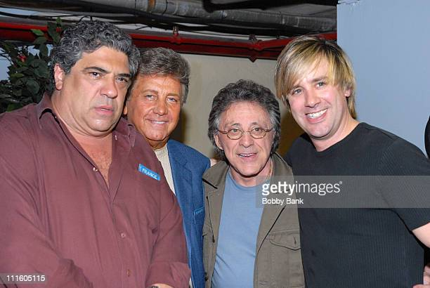 Vincent Pastore, Nick Puccio, Frankie Valli and Keith Hubacher *EXCLUSIVE COVERAGE*