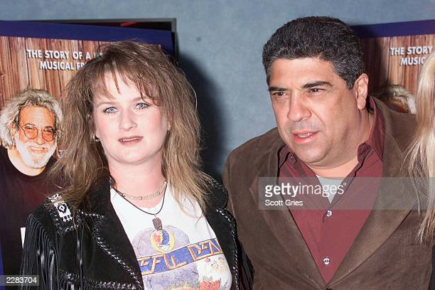Vincent Pastore with his friend Anne Marie Tomsen at a screening of Grateful Dawg to benefit The New York Police Fire Widows' and Children's Benefit...