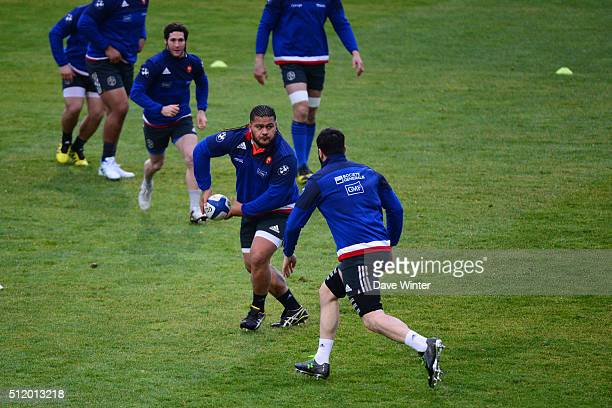 Vincent PELO of France during the French Rugby Union team training session at Centre national de rugby ahead of their six nations match against Wales...