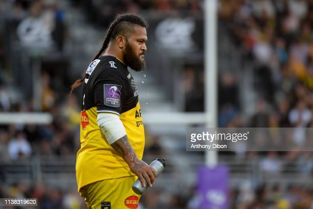 Vincent Pelo of La Rochelle during the Challenge Cup semi final match between Stade Rochelais and Sale Sharks on April 20 2019 in La Rochelle France