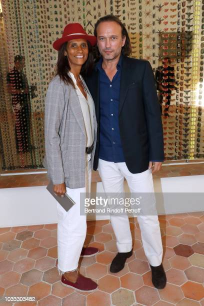 Vincent Perez and his wife Karine Silla attend the Kering Heritage Days Opening Night at 40 Rue de Sevres on September 14 2018 in Paris France