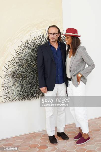 Vincent Perez and Karine Silla attends The Kering Heritage Days Opening Night at 40 Rue de Sevres on September 14 2018 in Paris France
